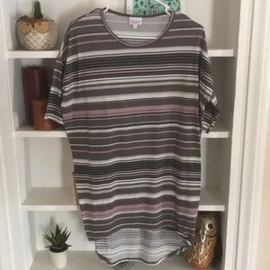 LuLaRoe Simply Comfortable striped tunic